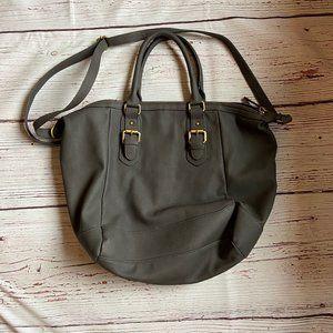 Merona Grey Shoulder Bag Purse EUC